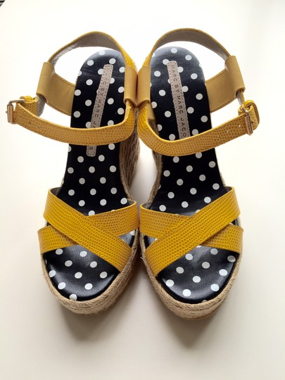 Marc by Marc Jacobs Sandals Platform Leather yellow Wedges Image 2