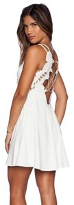 Free People short dress White Backless Summer Festival Boho on Tradesy