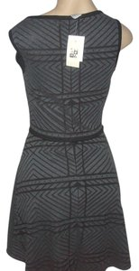 Max Studio short dress Black/Grey on Tradesy