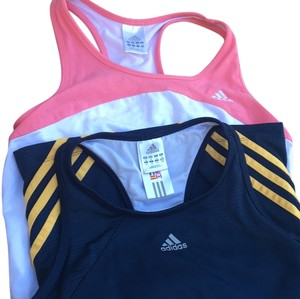 adidas *SALE* Two For One Racer Back Tanks With Bra Small 6 8