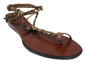 Lanvin Metalic Bronze Sandals