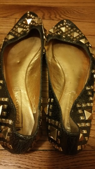 BCBGMAXAZRIA gold with studs Flats Image 1