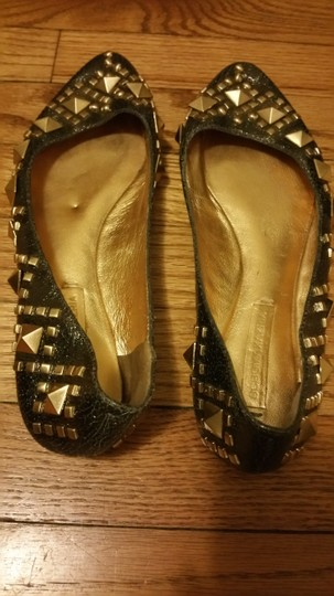 BCBGMAXAZRIA gold with studs Flats Image 3