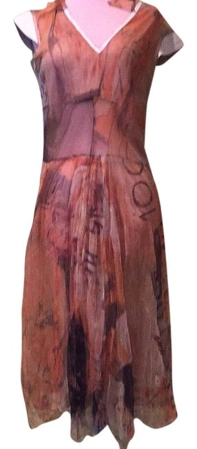 Just Cavalli Multicolor Mid-length Night Out Dress Size 8 (M) Just Cavalli Multicolor Mid-length Night Out Dress Size 8 (M) Image 1