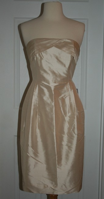 Item - Caribbean Sand Silk Erin Formal Bridesmaid/Mob Dress Size 6 (S)
