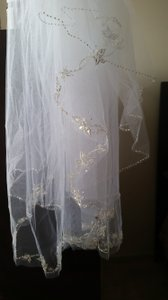 White Medium Couture Bridal Veil
