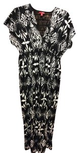 Black & White Maxi Dress by Bongo Soft Silky Feel Parties