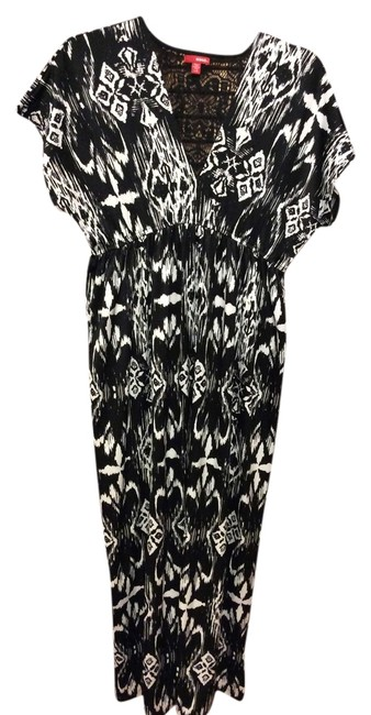 Black & White Maxi Dress by Bongo Soft Silky Feel Parties Cocktails Work Church Some Stretch