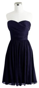 J.Crew Blue Silk Chiffon Bridesmaid Navy Dress