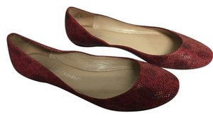Jean-Michel Cazabat Leather Round Toe Red Flats