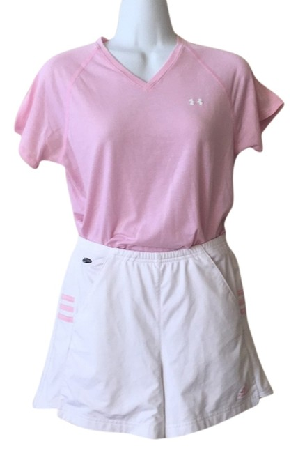 Item - Pink and White with Pink 2-piece Top&shorts Addidas Small 4 Activewear Sportswear Size 6 (S, 28)