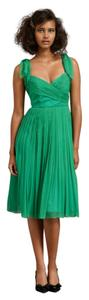 Anthropologie Bhldn Green Silk Dress
