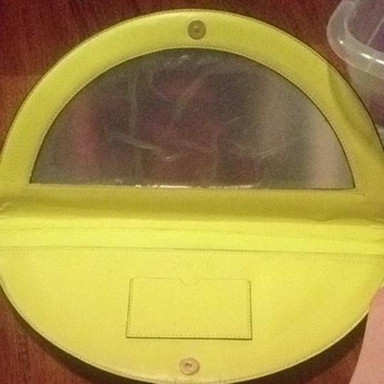 Kate Spade Yellow Circle Mirrior Night Chartreuse Clutch