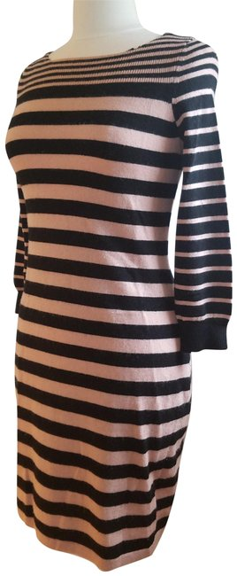 Preload https://img-static.tradesy.com/item/14480383/rebecca-taylor-black-blush-stripe-woolcashmere-sweaterdress-mid-length-short-casual-dress-size-8-m-0-3-650-650.jpg
