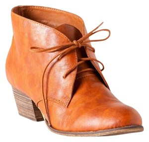 Chelsea Crew Bootie Bohemian Faux Leather Brown Boots