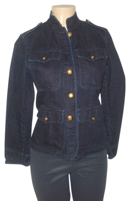 Preload https://img-static.tradesy.com/item/14480557/ralph-lauren-blue-indigo-rinse-cotton-gold-buttons-pm-denim-jacket-size-petite-8-m-0-1-650-650.jpg