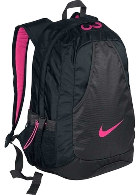 Item - Hot Black and Pink Polyester Backpack