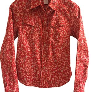 Buffalo David Bitton Button Down Shirt Red