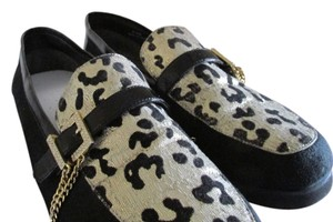 Beverly Feldman Black/White/Gold Flats