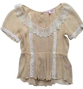 Rebecca Taylor Silk Ribbon Lace Top