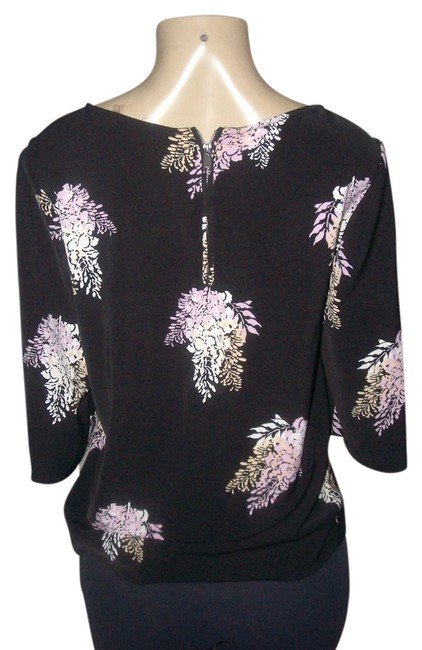 Preload https://img-static.tradesy.com/item/14481598/dkny-black-donna-york-polyester-floral-patterns-blouse-size-6-s-0-1-650-650.jpg