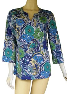 Talbots Floral Cotton Blend Tunic
