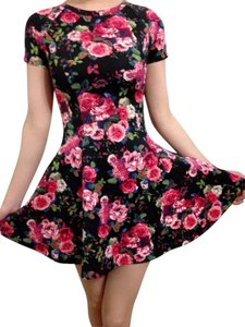 & Other Stories short dress black red flower on Tradesy