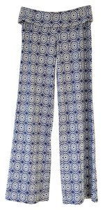 Helen Jon Beach Summer Resort Relaxed Pants blue, white