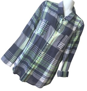 Old Navy Plaid Shirt Large Button-up Button Down Shirt