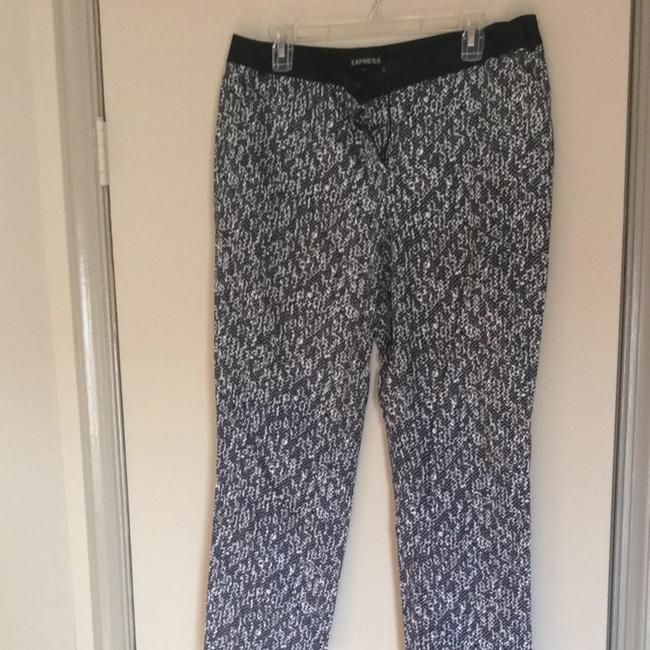 Express Capri/Cropped Pants Black/White