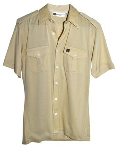Balmain Pierre Paris Button Down Shirt Beige