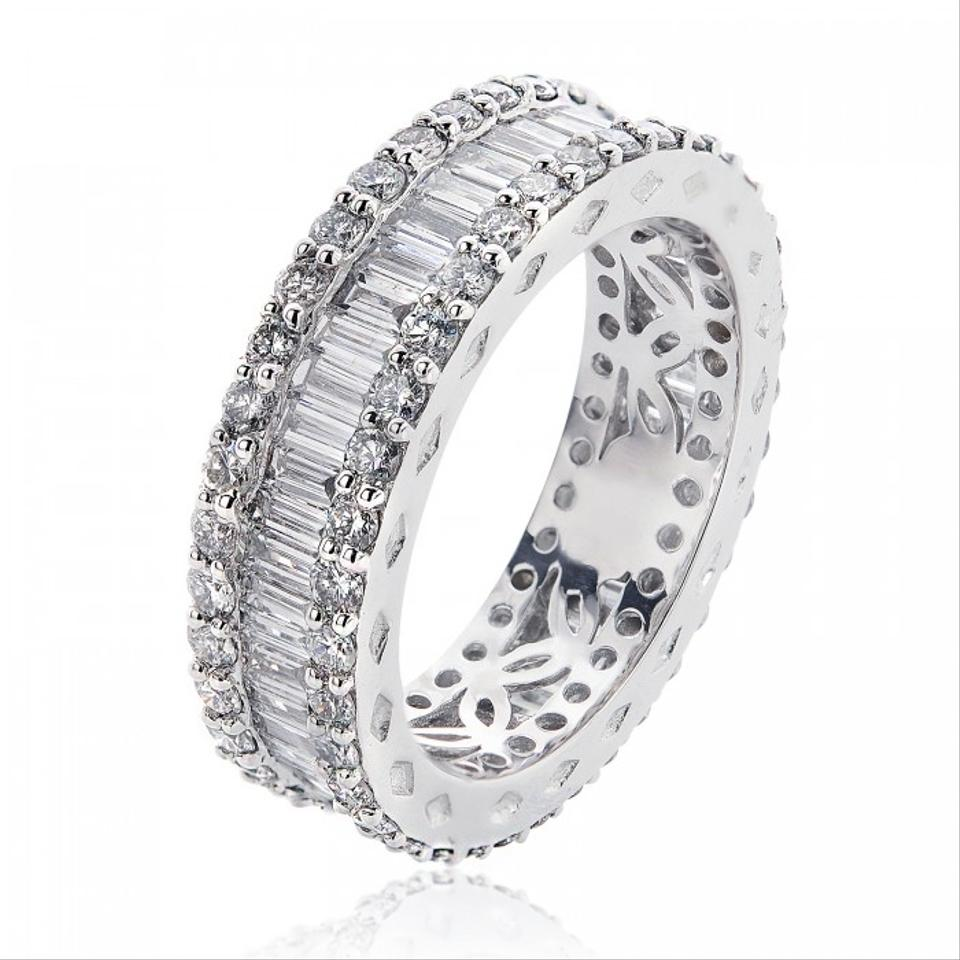 Avital & Co Jewelry 18k White Gold 2.51 Tcw Round Baguette Cut ...