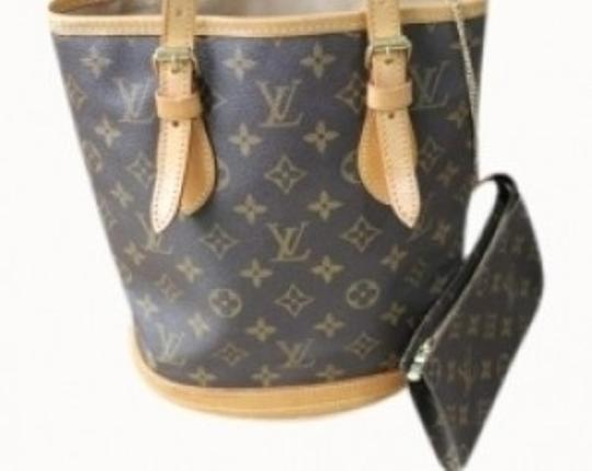 Preload https://item5.tradesy.com/images/louis-vuitton-bucket-petite-brown-monogram-vachetta-leather-and-canvas-tote-144824-0-0.jpg?width=440&height=440