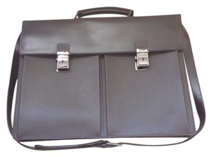 Trussardi Business Leather Italy Laptop Bag
