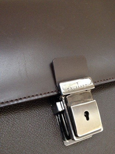 Trussardi Business Leather Italy Accessories Laptop Bag