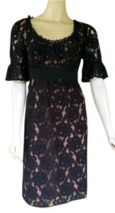 Ann Taylor LOFT Lace Cotton Blend Floral 3/4 Sleeves Dress