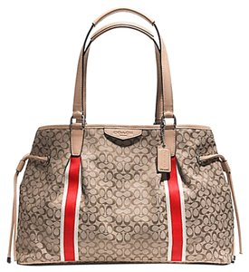Coach F26130 26130 Signature Carryall Signature Tote Shoulder Bag