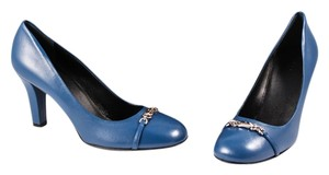 Gucci Horesbit Leather blue Pumps