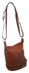 Valentina Italian Leather Tote in Camel tan