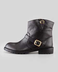 Marc by Marc Jacobs Moto Leather Ankle Black Boots