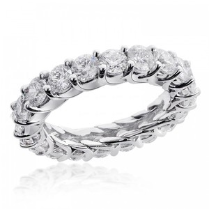 Avital & Co Jewelry U-prong 4.0 Tcw Round Brilliant Diamond Eternity Wedding Ring