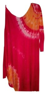Young Fabulous & Broke short dress Pink + orange on Tradesy