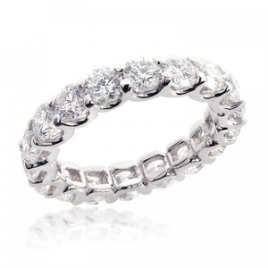 Avital & Co Jewelry 14k White Gold 3.85 Tcw Round Brilliant Cut Diamond Eternity Wedding Band