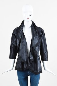 Karolina Zmarlak Silk Black Jacket