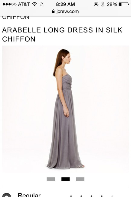 Item - Gray Silk Chiffon Arabella Formal Bridesmaid/Mob Dress Size 4 (S)