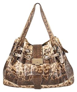 Jimmy Choo Watersnake Ramona Tote in Brown