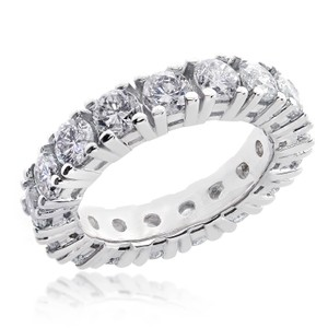 Avital & Co Jewelry 14k White Gold 3.25 Tcw Round Brilliant Diamond Eternity Wedding Band