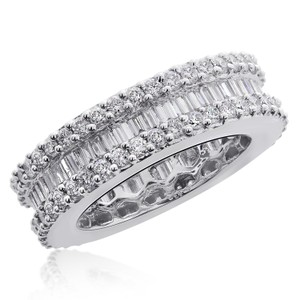 Avital & Co Jewelry 3.42 Carat Baguette & Round Brilliant Cut Diamond Eternity Band