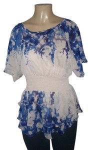 ECI New York Top Blue/Ivory