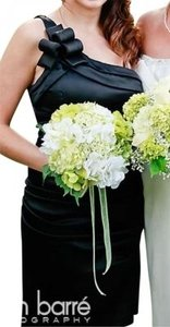 Betsy & Adam Black Acetate - Lining Is Polyester Style 10340 Sexy Bridesmaid/Mob Dress Size 6 (S)